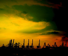 Singapore: Pasir panjang Harbor Crane
