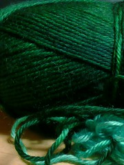 green transitional mercerized wool