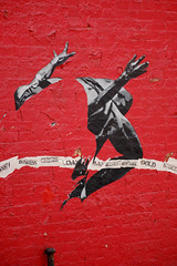 Over the Crisis (laverrue) Tags: nyc red streetart money brick sport wall hope gold high jump chelsea manhattan dick stock business explore jumper gothamist account wallstreet economic athlete trade financial economy exchange increase crisis mortgage bankrupt bailout fosbury explored dickfosbury overthecrisis httpdirak47guidecom