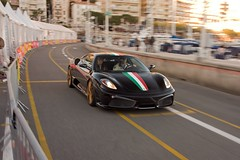 Strait to the pool (aviapics) Tags: motion black blur port harbour file ferrari monaco scuderia flou 430 noire