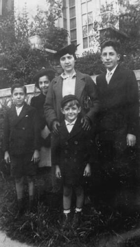 L-R: Joe D'Ippolito, Paula Periale, Gertrude D'Ippolito, James Gabriel Periale, Joseph Francis Periale, c. 1936 (at May Mahler's house, Bronx, NY)