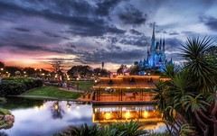 The Sunset of Your Childhood (Stuck in Customs) Tags: park lighting travel family light sunset wallpaper vacation sky castle texture water colors beautiful childhood sunrise reflections painting children fun photography orlando amazing cool nikon perfect colorful exposure pretty mood photographer child bright florida vibrant magic d2x scenic surreal atmosphere disney medieval adventure disneyworld mickeymouse stunning pro theme cinderella top100 portfolio lovely 2008 emotions tones magical hdr highdynamicrange tutorial masterpiece travelphotography disneycastle hdrtutorial stuckincustoms treyratcliff