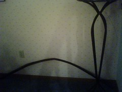 Lineaments of Frances (Sheila Ryan) Tags: cameraphone stain paranormal spiritphotography lgvx8300 paranormalphenomena