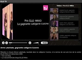 ELLE TV - Prix cuisine - Anne Lataillade