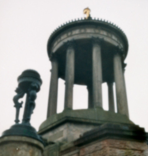Pinhole on 35mm film burns memorial Alloway 17Dec08