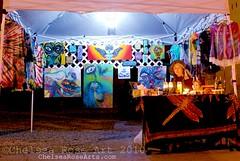 Booth for Last Thursday art on Alberta St (lucidRose) Tags: paintings setup tiedye albertast artbooth chelsearose lucidopticlab lastthrusdayartonalberta albertastportlandoregon |dannyrodriquez