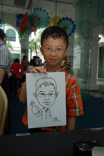 Caricature live sketching at Singapore Art Museum Christmas Open House - 1