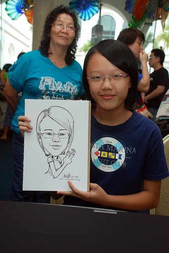 Caricature live sketching at Singapore Art Museum Christmas Open House - 13
