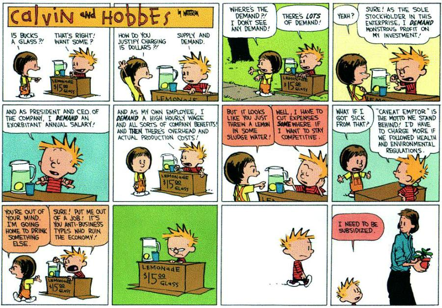Supply & Demand - Calvin & Hobbes