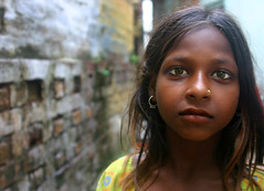 Indian beauty (LindsayStark) Tags: travel portrait people india girl kids children asia child varanasi humanrights hindu benares uttarpradesh platinumphoto goldstaraward