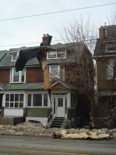 Roof Torn off on Bathurst St
