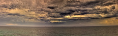 Clouds off King Edward Park (Newcastle) (ImageBud) Tags: ocean summer panorama storm beach clouds canon newcastle australia hdr 40d blacksmithsbeach camdub