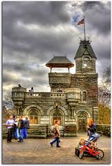 Central Park Belvedere Castle (DP|Photography) Tags: newyorkcity centralpark manhattan sesamestreet hdr belvederecastle photomatix debashispradhan dpphotography belvedorecastle dp|photography