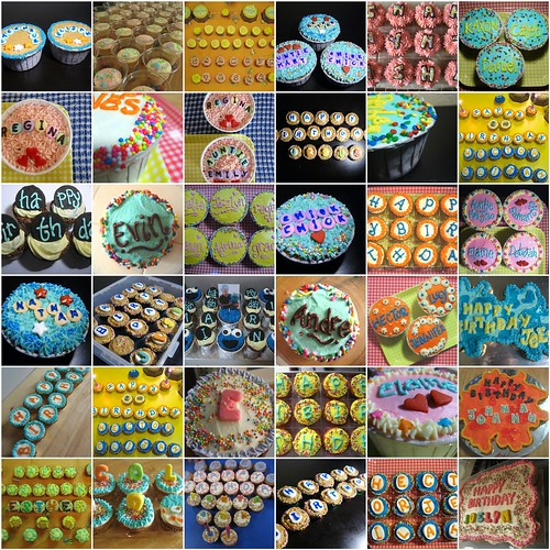 A year of birthday cupcakes 2008