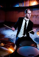 1N0_3672 (Sebastien Benoit - subby.ca) Tags: dark drum garage airvent blacktie cymbal strobist mathieubenoit