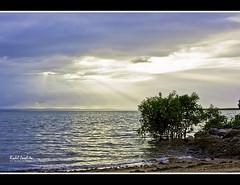 Patience ([ Rodelicious ]) Tags: sky art nature blue ocean sea sun reflection exposure photos photogra