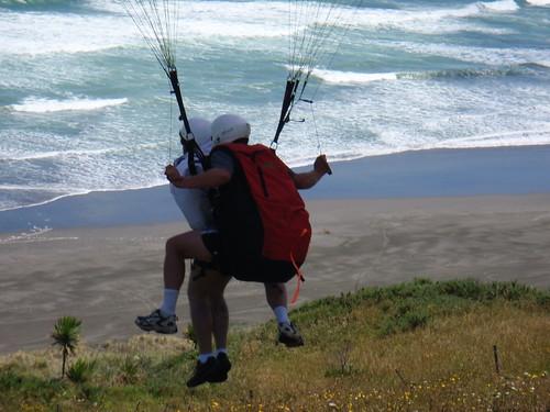 Raglan paragliding: takeoff