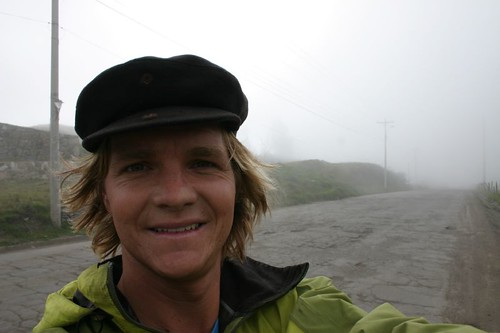 Nicolai on the misty mountain roads...