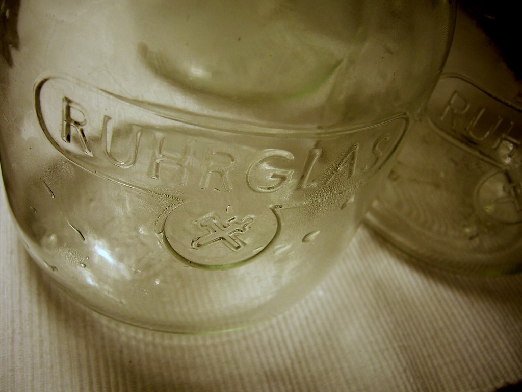 january 7. [my grandpa's preserve glasses.]