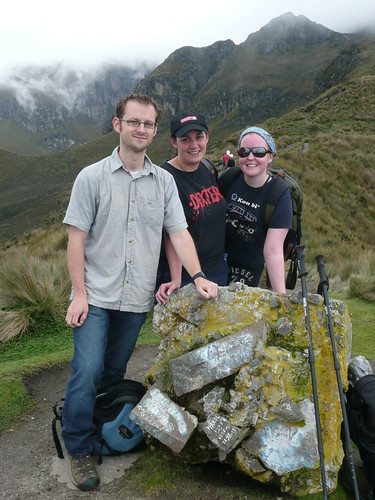 Josie, Boheme and I on the trail to the summit of Rucu Pichincha, Ecuador