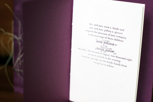 Invitation Booklet | Interior