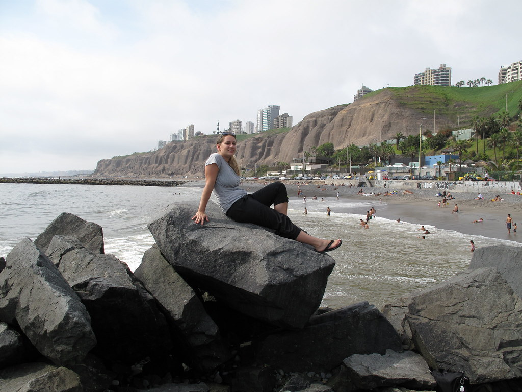 The beach in Lima