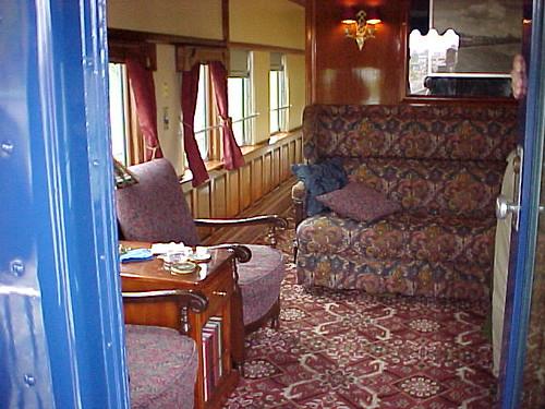 Private Rail Car Georgia 300 - lounge observation area