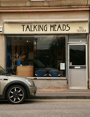 TALKING HEADS (hitherhereto) Tags: hairdressers airdrie shopfronts coolnames