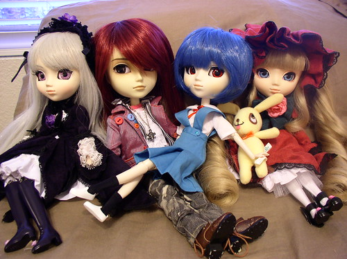 Pullips and Yaeyang for Adoption - Suigintou, Lead, Rei Ayanami, and Shinku