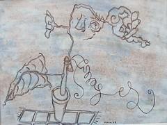Autoportrait aux images (louisphilippevivien) Tags: paint rawart dessin peinture artbrut tableau toile peintre artsingulier artistepeintre figurationlibre louisphilippevivien