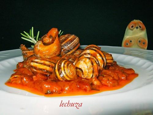 Caracoles-plato