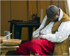 A nap after lunch (Bill  M) Tags: english hall war battle civil cavalier pike reenactment livinghistory roundhead musket ecw sealedknot parliamentarian kelmarsh royalist kelmarshhall battleofnaseby03may2008 copyrightbmartin