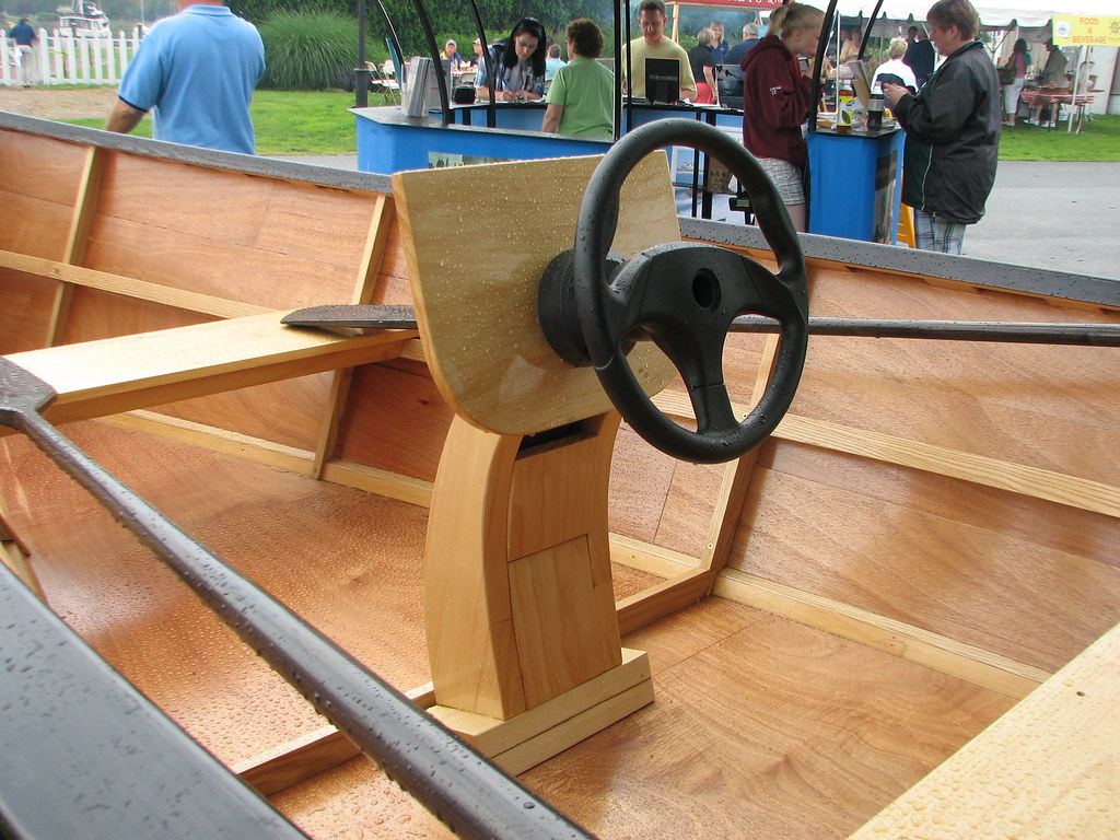 ... minimalist steering console from the Wooden Boat Show a few days ago
