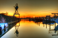 Port of Offenbach (rawshooter72) Tags: sunset port golden harbor harbour main hour hafen hdr hdri offenbach
