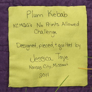 Plum Kebab - Label