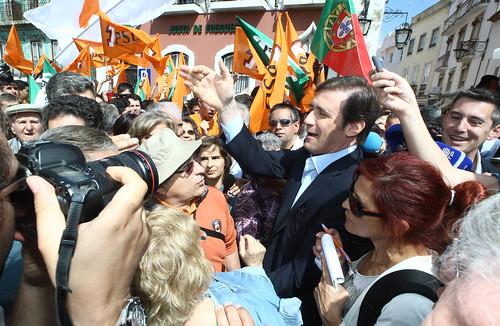 Pedro Passos Coelho  visitou o Mercado de Leiria