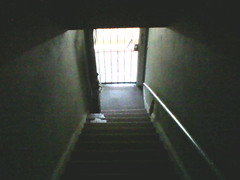 P05-15-11_13.03 (jakesburg) Tags: door light mobile stairs stair alone phone apartment darkness mail steps illumination cellphone stairwell landing staircase single neighbor polanski tenant opendoor
