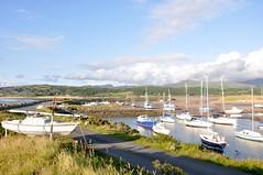 Boats on Shell Island (Nik Sibley) Tags: uk camping wales boats island coast harbour britain shell campsite gwynedd shellisland