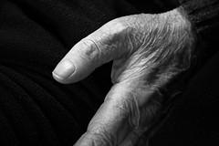 Istanti di mio nonno Giuseppe (5) (bellimarco) Tags: old white man black canon hand grandfather potrait bianco ritratto nero nonno vecchio anziano rughe ruga 40d