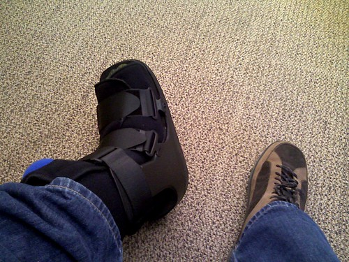 The walking boot for my ankle