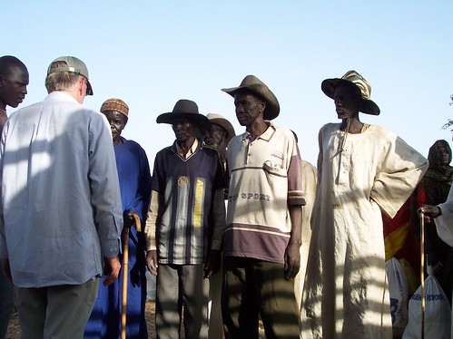 High officials in a remote area