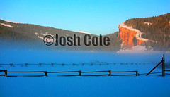 MorningFog©Josh Cole (wayoutwestimages) Tags: ranch cliff snow fog sunrise farm wyoming jacksonhole bluff
