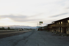 Tonopah, Nevada (~Christy) Tags: art film print town desert pavement framed nevada motel structure limitededition tonopah fujisuperia200 artphotography cprint chromogenic sundownermotel