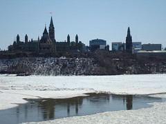 the last day of winter (clearbluecup) Tags: ottawa parliamenthill ottawariver rideaucanal