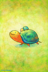 iPhone/iPod touch Wallpaper #021 (ATELIER302) Tags: wallpaper cute kids illustration children colorful turtle iphone ipodtouch iphonewallpaper