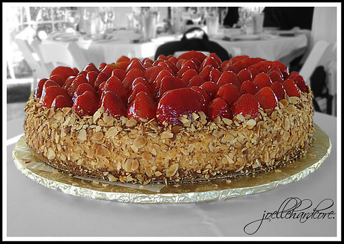 Wedding Cake Strawberry Cheesecake