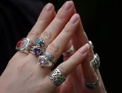 Steepled Hands (LPM) Tags: silver hands fingers jewellery rings closeups silverjewellery