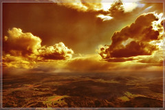 Cloud Nine (Stevacek) Tags: sun sunlight clouds plane d50 gold countryside nikon heaven czech horizon aerial rays hdr vrchlabi mywinners stevacek anawesomeshot