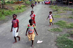 Beneraf village (Mangiwau) Tags: ocean new west kids indonesia coast guinea village place pacific market coastal papua eastern barat irja melanesians sarmi irian swpacific beneraf viiagers