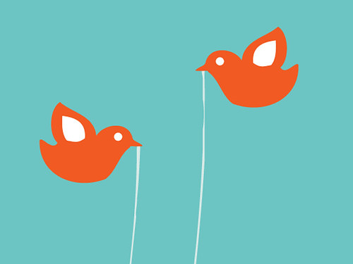 Twitter Birds, Close Up